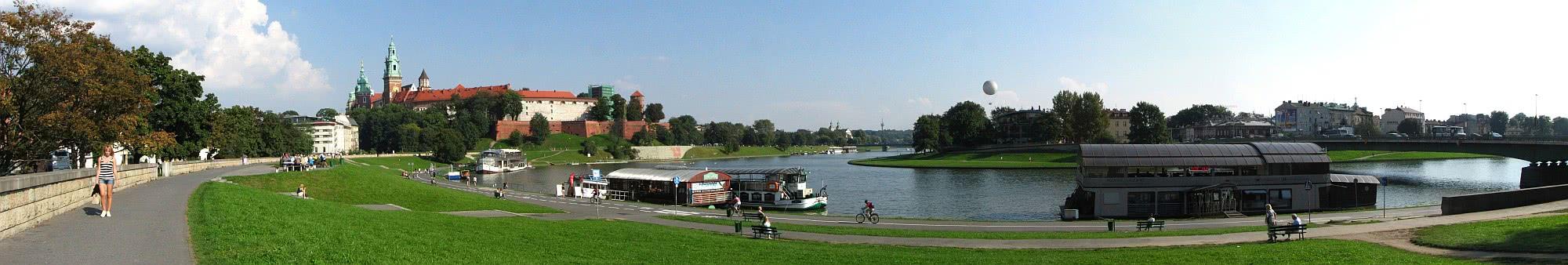 Wawel - Panorama nad Wisłą