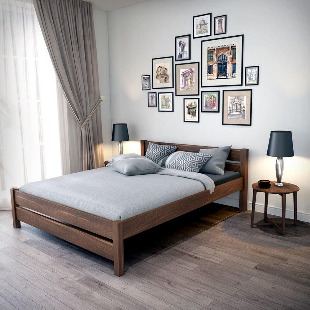 Sypialnia łóżko drewniane Sawana