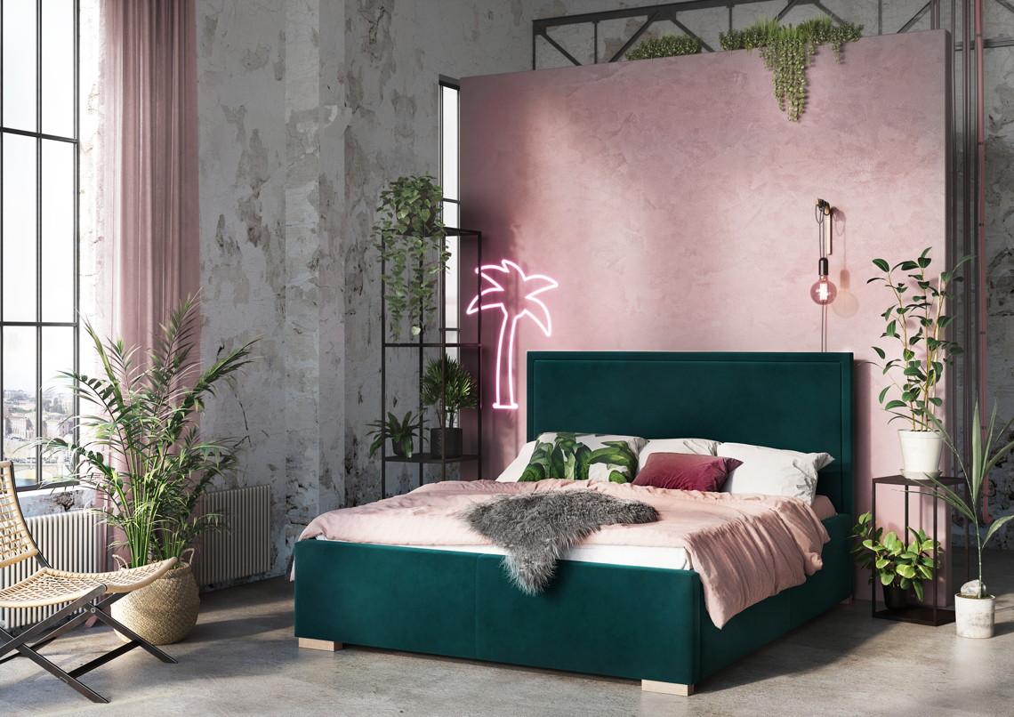 Sypialnia łóżko tapicerowane Simple