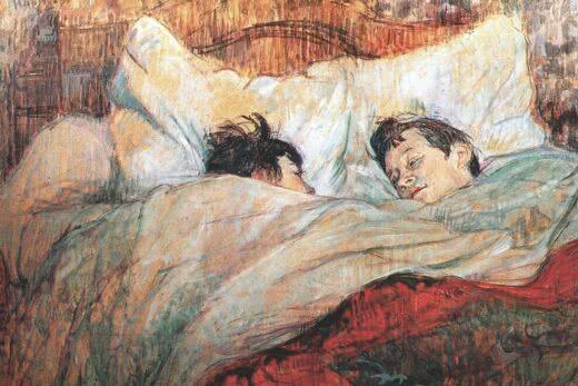 W łóżku (Henri de Toulouse-Lautrec, 1893, Musée d'Orsay)